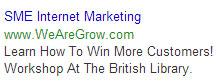 example symbols in adwords headline