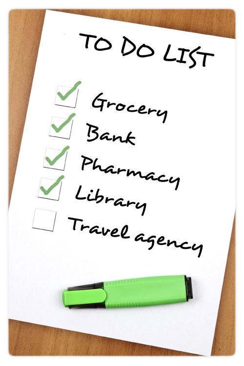 example of to do list