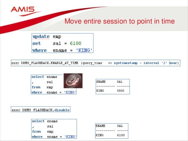flashback query in oracle 11g example