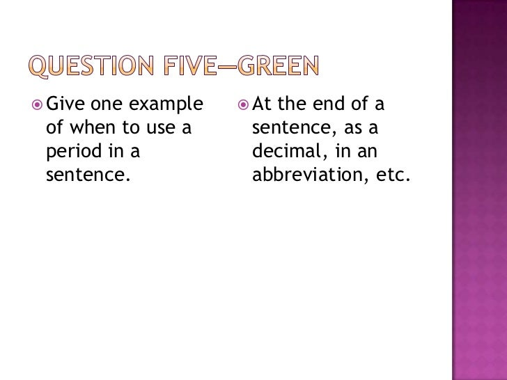 for example abbreviation in a sentence