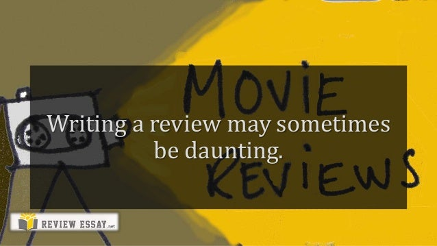 how to write a movie review example