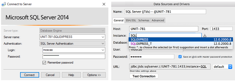 jsp sql server database connection example