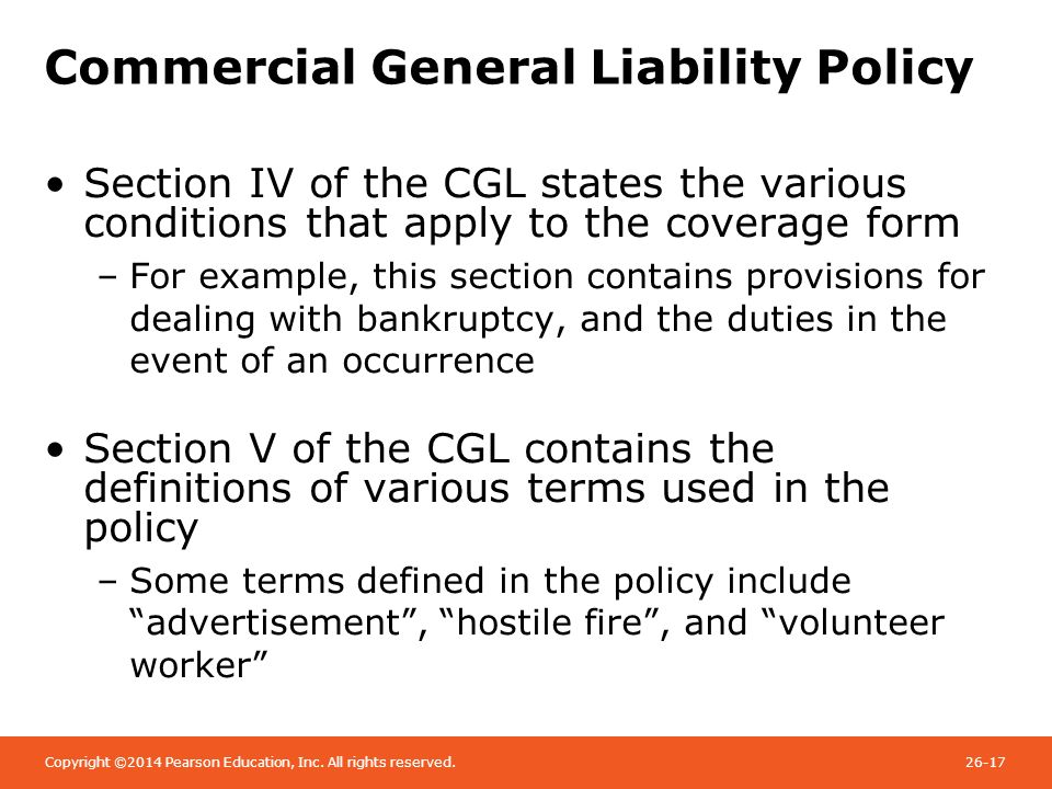 public liability insurance policy example