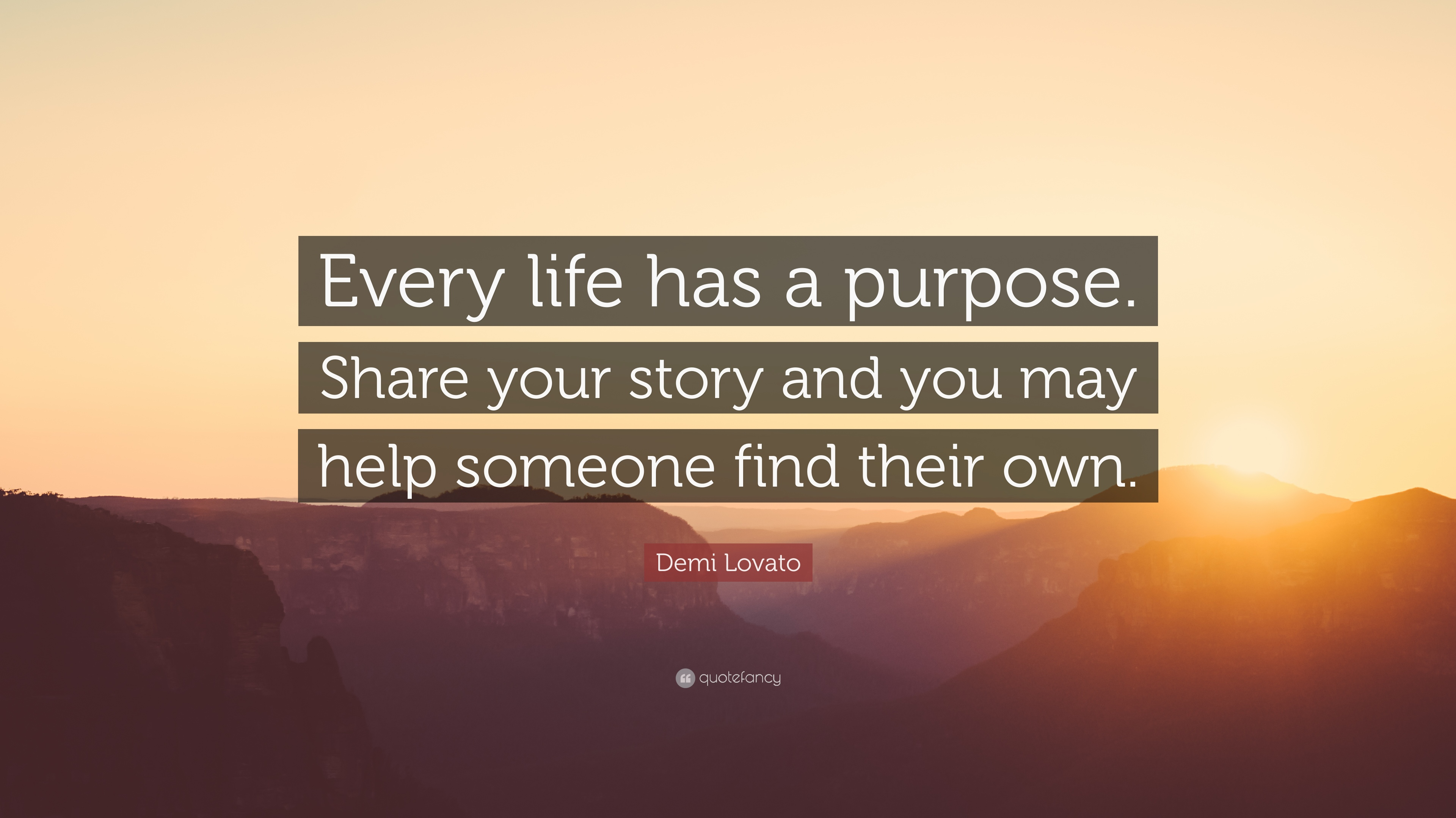 someone with purpose in their life example