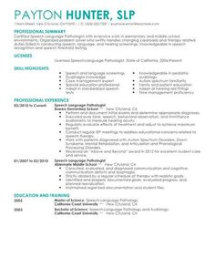 speech pathology career objective example