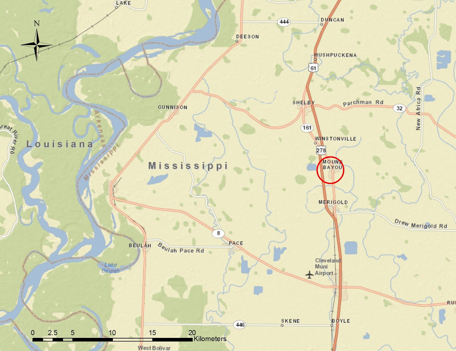 the mississippi delta is an example of a